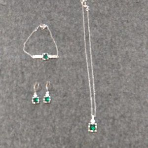 Set of Necklace, Bracelet and Earrings